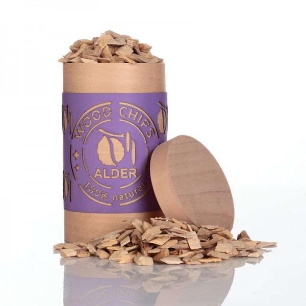 Alder wood chips for BBQ