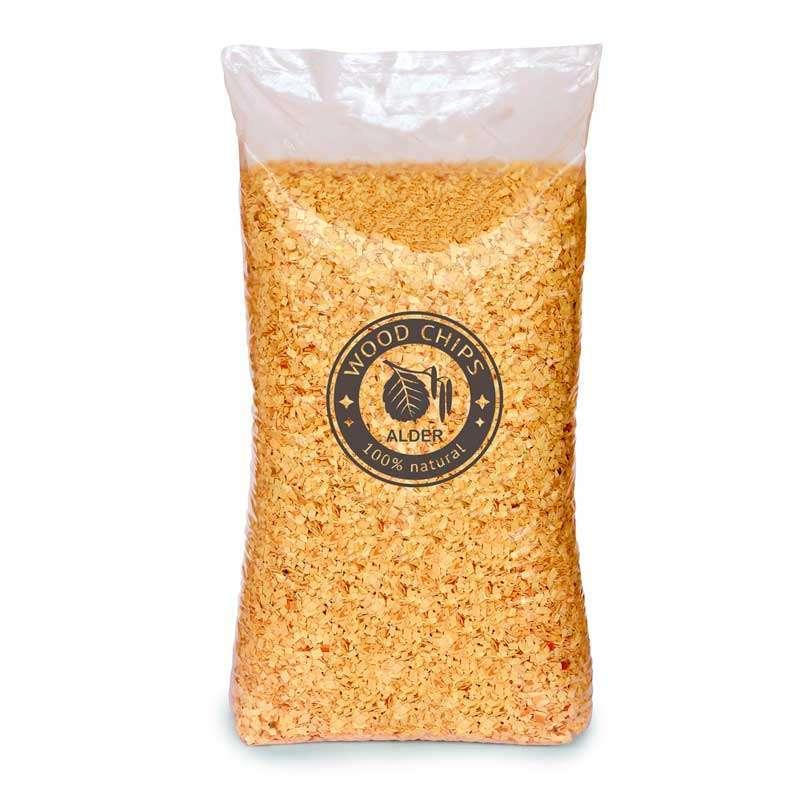 Alder Wood Chips 15 Kg Bulk