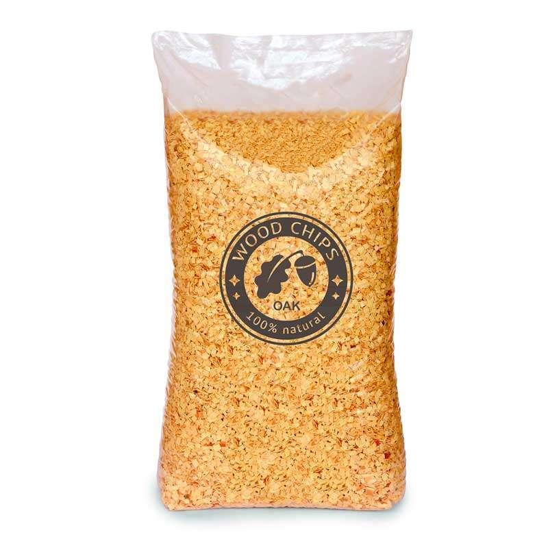 Oak wood chips kg bulk