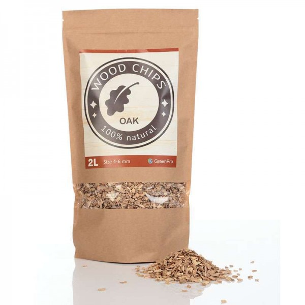 Oak Wood Chips 2 litres Zip